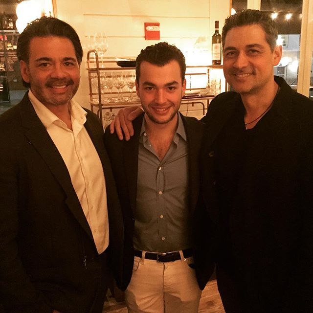 Talking Greek Longevity with world renowned architect, Chris Kofitsas (disclosure, he's my bro :-), and genius chef, Greg Grossman of Oreya and Kettlebell Kitchen, at Upland, NYC. @greg_grossman #oreya @chriskofitsas #upland