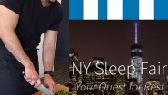 """Doing a fun cooking demo for LinkedIn's NY Sleep Fair. Admire a company that cares about your shuteye. """"I love sleep. My life has the tendency to fall apart when I'm awake, you know?"""" Ernest Hemingway #linkedin #sleep #speaker #cookingdemo"""