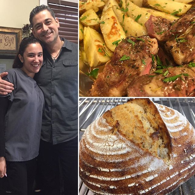I'll miss Jackie as she pursues her new career. She loves Greek lamb, potatoes, and bread, so it was fun cooking for her. She has great taste :-). #cookingforfriends #greekfood