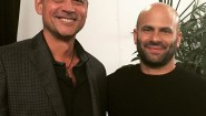 """Sam Kass, former White House chef, sustainability leader. """"Restaurants and chefs will have to consider the health of their customers, and the environment, going forward."""" @chefsamkass #chefsamkass #nycwff #sustainability #sustainabilityconsultant @peterkfitness"""