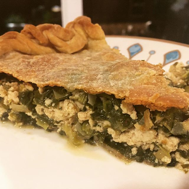 Vegan Spanakopita, for my son. #greekfood