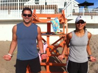 NH- Dimitra and Peter beach workout