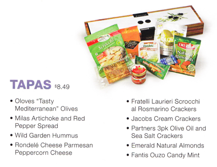 UA snack box Tapas