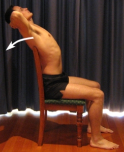 back ext in chair