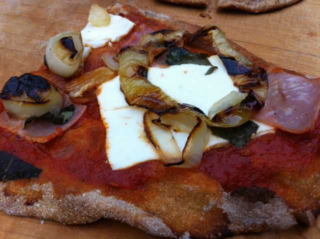 Recipe- Grilled, Whole Wheat Pizzas