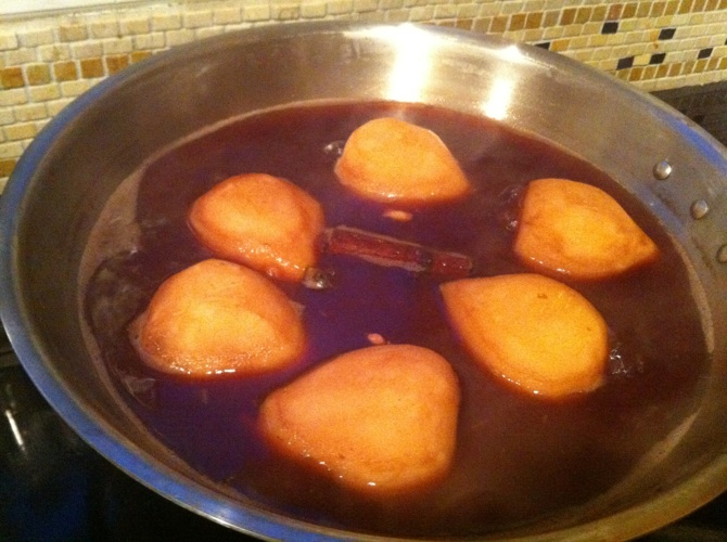 poached pears 1