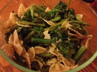 Whole Wheat Pasta with Broccolini and Asparagus